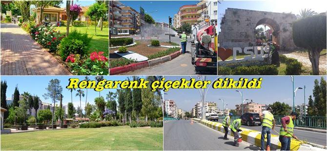 Büyükşehir'den Tarsus'ta cadde ve parklarda kapsamlı bakım