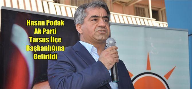AK Parti Tarsus ilçe Başkanlığına yeniden Hasan Podak getirildi