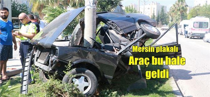 Adana'da YSK'e sınavına öğrenci taşıyan araç kaza yaptı