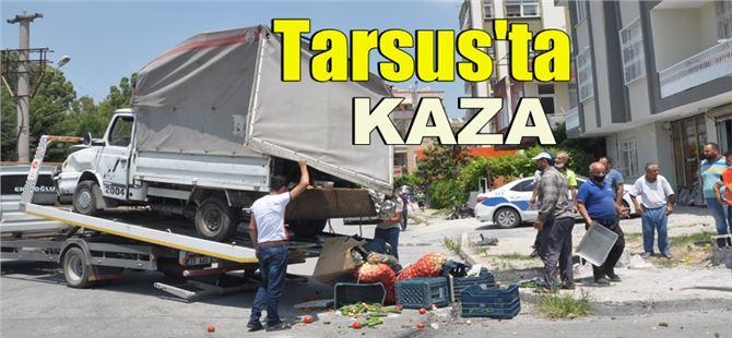 Tarsus'ta pikap ile otomobil çarpıştı: 1 yaralı