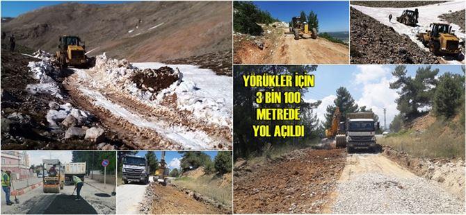 Büyükşehir'den zirvede ve ova'da yol onarım-bakım çalışmaları