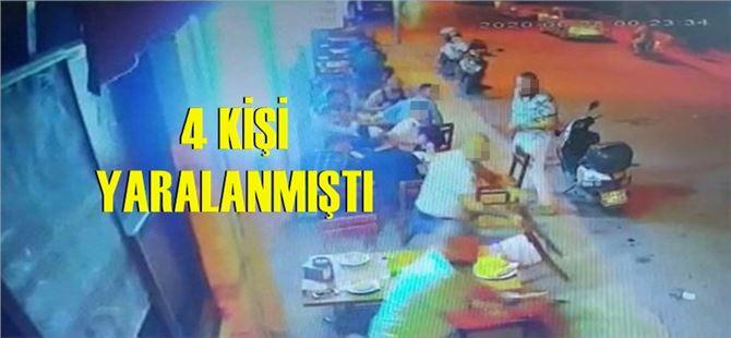 Tarsus'ta lokantaya yapılan silahlı saldırının görüntüleri ortaya çıktı