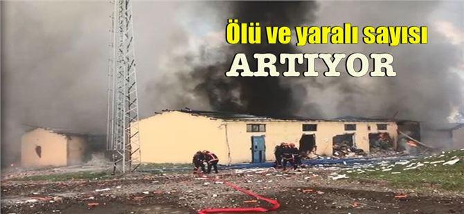 Sakarya Hendek'te havai fişek fabrikasında büyük patlama
