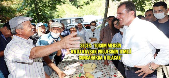 Başkan Vahap Seçer, kırsal mahallelere çıkarma yaptı
