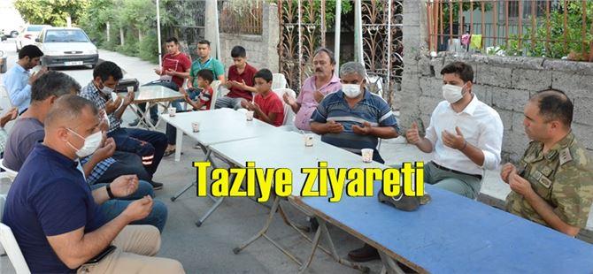 Balıkesir'de kaza kurşunu ile yaşamını yitiren askerin ailesine taziye ziyareti