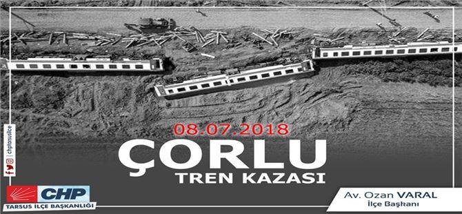 Ozan Varal, Çorlu tren kazasında ölen vatandaşları andı