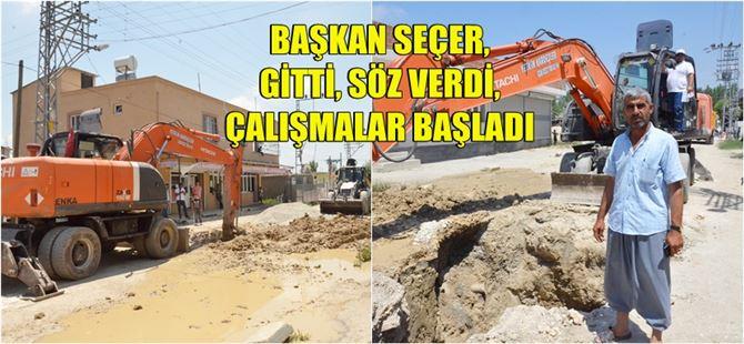 Tarsus Atgirmez mahallesinin 35 yıllık altyapı sorunu çözüme kavuşuyor