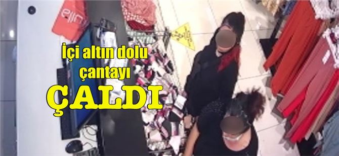 Tarsus'ta, mağazada unutulan altın dolu çantayı çalan şahıs yakalandı