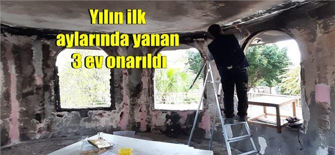 Büyükşehir, yangın mağduru dar gelirli yurttaşların evlerini onarıyor