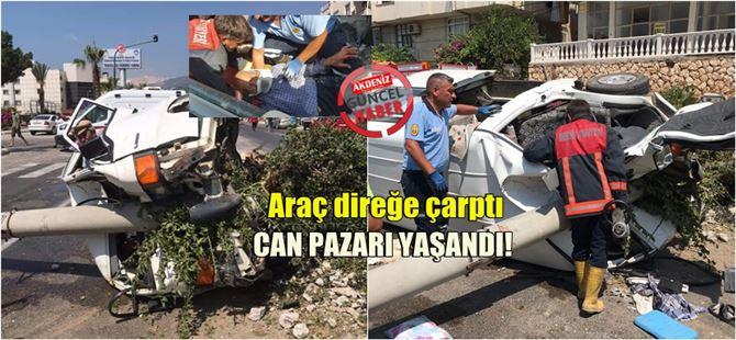 Mersin'de feci kaza : 3 yaralı