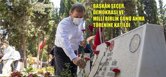 Mersin Şehitliği'nde 15 Temmuz Anma Töreni