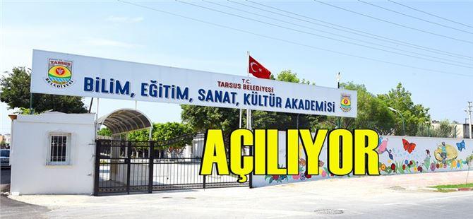 """Tarsus Belediyesi tarafından """"Bilim ve Sanat Akademisi"""" açılıyor"""
