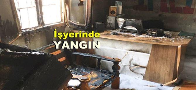 Tarsus'ta işyeri yangını çevrede paniğe yol açtı