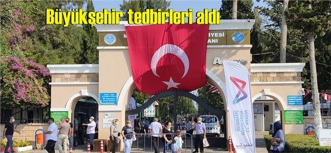 Büyükşehir, Tarsus'taki mezarlıklarda bayram tedbirlerini aldı
