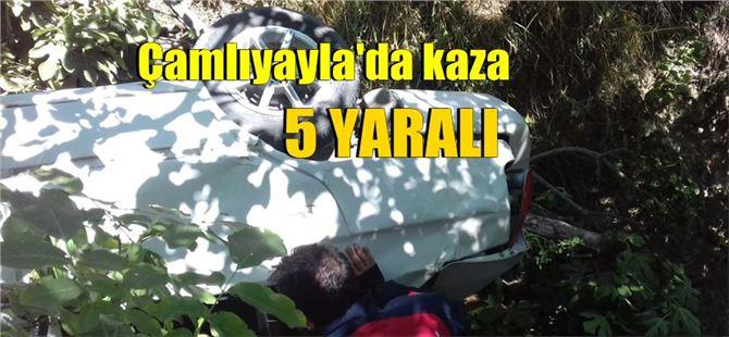 Mersin Çamlıyayla'da araç uçuruma yuvarlandı: 5 yaralı