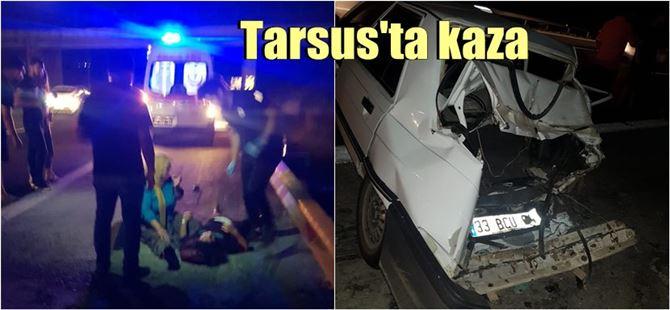 Tarsus TEM'de kaza : 3 yaralı