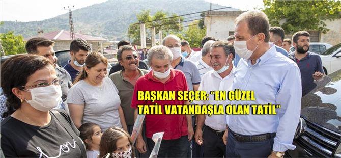 Başkan Seçer, Bayram ziyaretlerini Gözne ile sonlandırdı