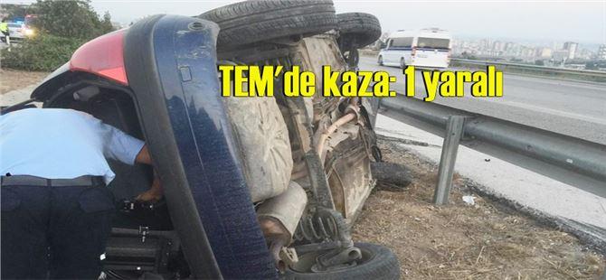 Tarsus-Mersin otoban yolda kaza: 1 yaralı