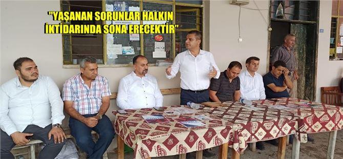 Tarsus CHP'den kırsal mahallelere ziyaret