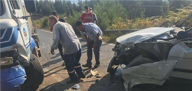 Çamlıyayla'da kaza; 1 yaralı