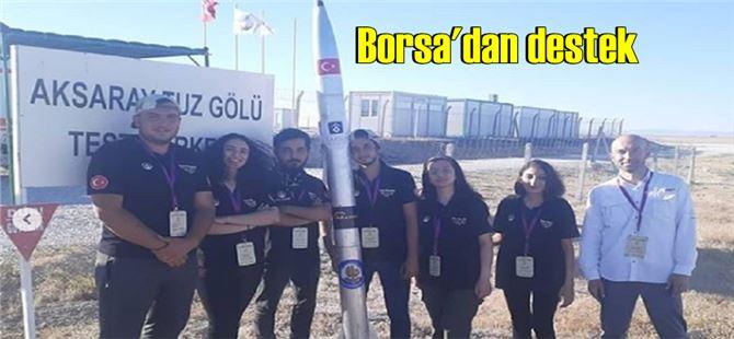 Üniversiteli roket takımına Borsa'dan destek