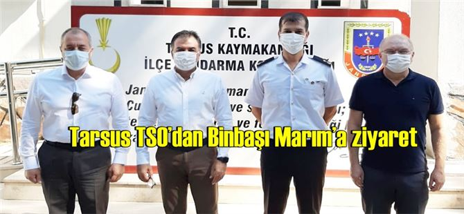 Tarsus TSO'dan Binbaşı Marım'a ziyaret