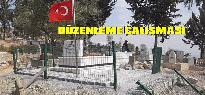 Şehit Sinan Köse'nin mezarının çevresinde Büyükşehir'den düzenleme çalışması