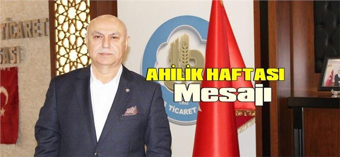 Başkan Murat Kaya'dan Ahilik Haftası Mesajı