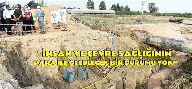 Başkan Seçer, Taşucu'nda devam eden Atıksu Terfi Merkezi çalışmalarını inceledi