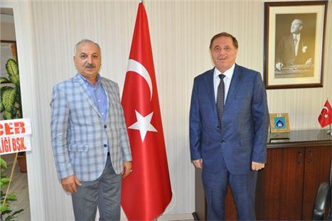 Başkan Dinçer'den Vergi Dairesi Başkanı Baysal'a hoş geldiniz ziyareti