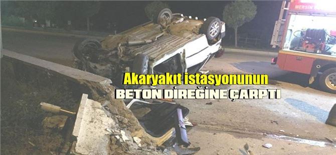 Mersin'de yaşanan kazada sürücü yaralandı