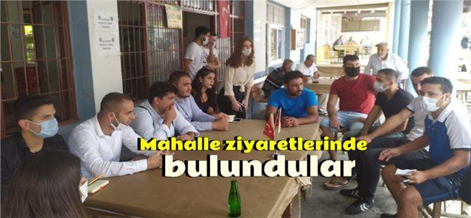 CHP'li gençlerden Tarsus'ta saha çalışması