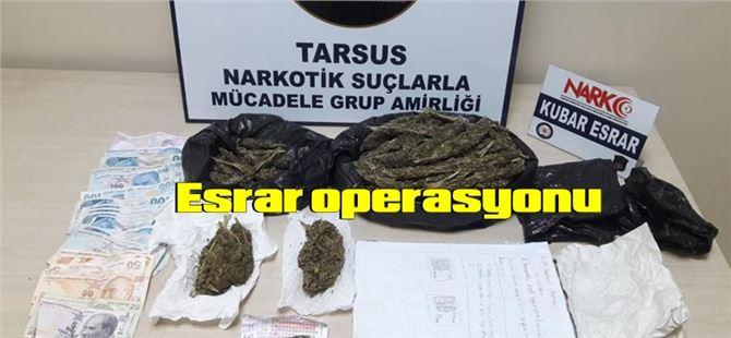 Tarsus'ta esrarı temin edende satın alanda yakalandı