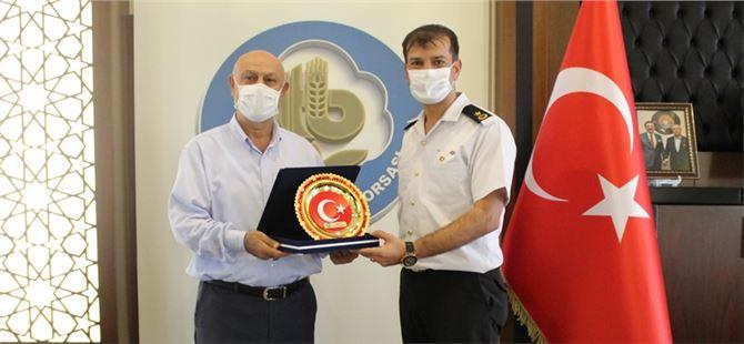 Jandarma Komutanı Marım'dan Ticaret Borsası'na ziyaret