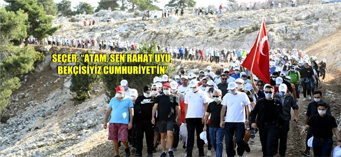 """Başkan Seçer, Yüzlerce Yurttaşla """"Cumhuriyet"""" İçin Yürüdü"""