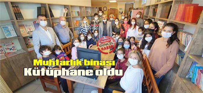Tarsus Duatepe Muhtarlık binasında kütüphane açıldı
