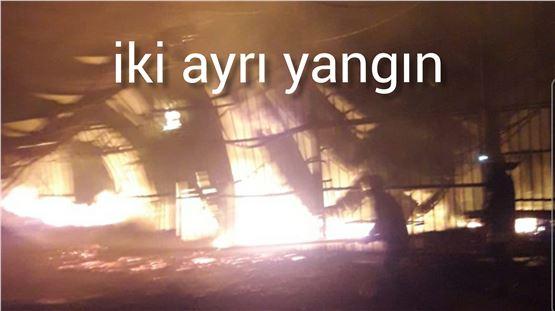 Tarsus'ta iki ayrı noktada yangın