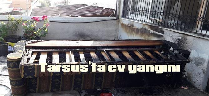 Tarsus'ta çıkan yangın maddi hasara neden oldu