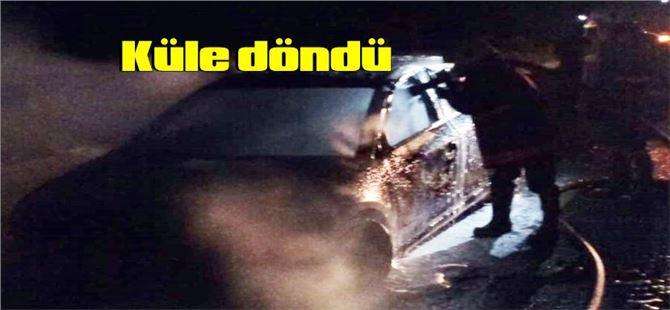 Tarsus-Mersin arasında seyir halindeki araçta yangın