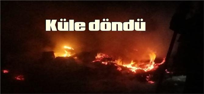 Tarsus'ta çadır yangını