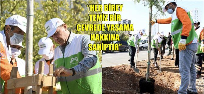 Mersin Büyükşehir, 13 İlçede 'Yeşil Mersin Projesi'ni Başlattı