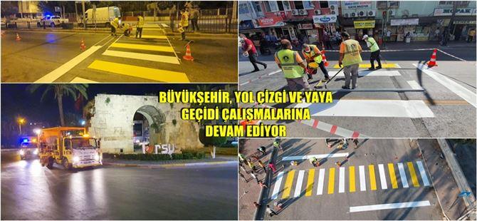 Tarsus'ta trafik ve yaya güvenliği için Büyükşehir'den kapsamlı faaliyet