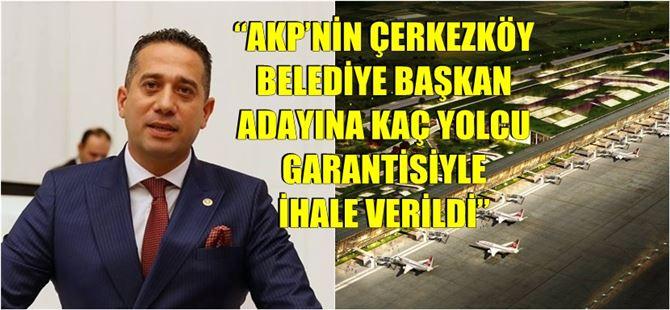 Başarır, Çukurova Havalimanı üst yapı ihalesini Meclis gündemine taşıdı
