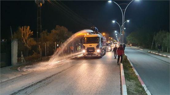 Büyükşehir'den Yenice'de yıkama ve dezenfekte çalışması