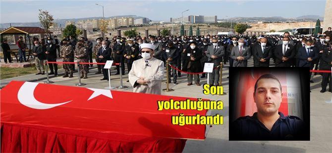 Tarsus'ta Şehit düşen polis memuru son yolculuğuna uğurlandı