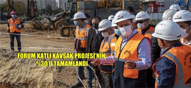 Başkan Seçer, Forum Katlı Kavşağı İnşaatını İnceledi
