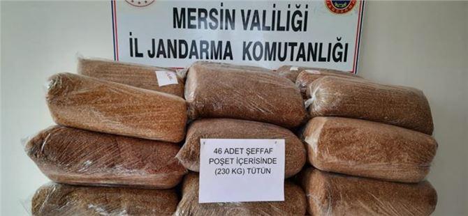 Tarsus'ta kaçak tütün ele geçirildi