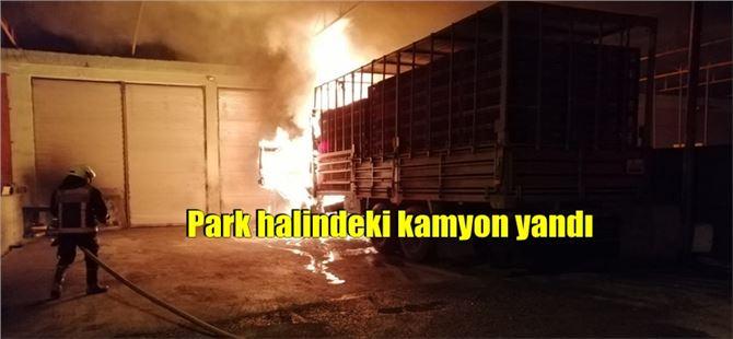 Tarsus'ta kamyonun kupasında yangın maddi hasara yol açtı