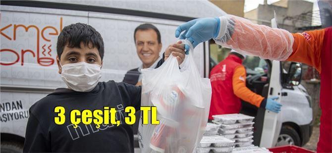 """Büyükşehir'in mahalle mutfakları """"3 TL'ye 3 çeşit yemek"""" hizmeti veriyor"""