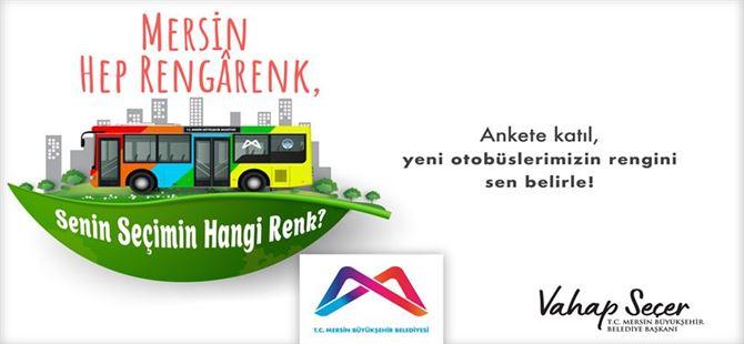 Büyükşehir, yeni otobüslerin rengi için anket çalışması başlattı